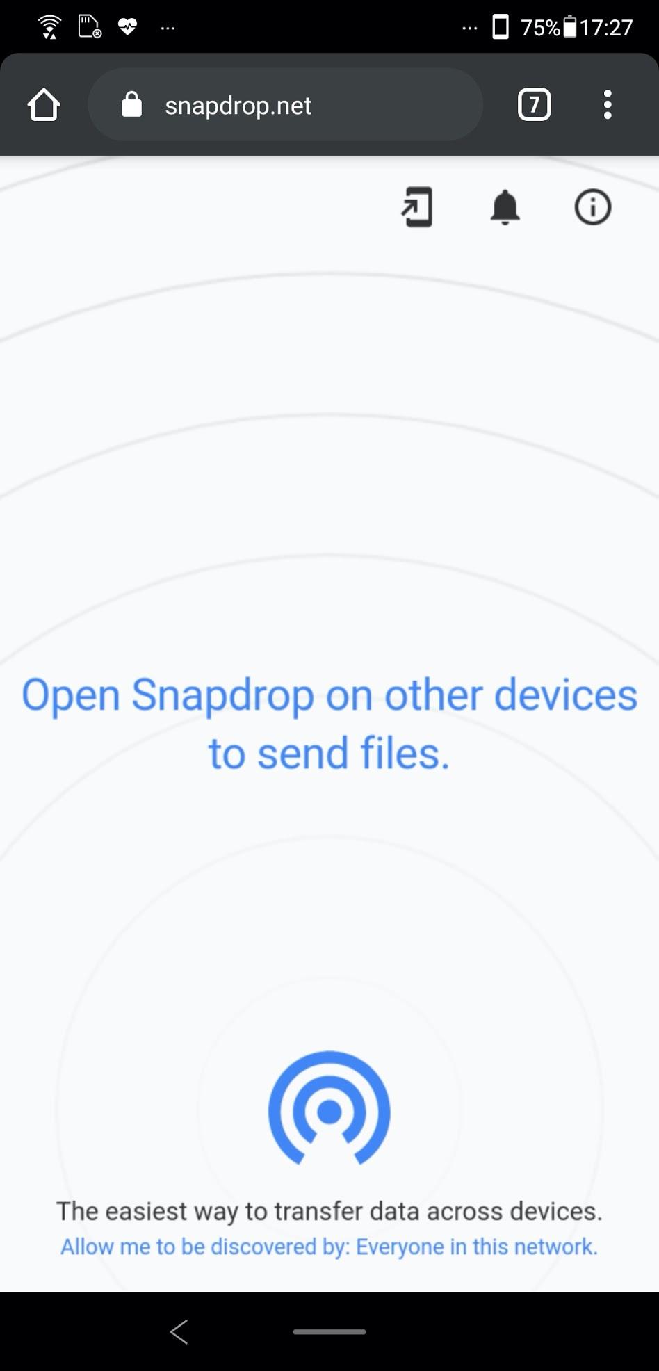 Snapdropの送信先